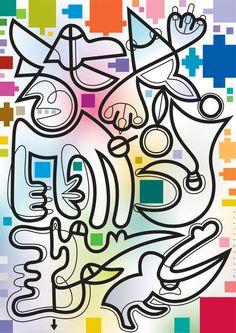 'Wirre Wesen des Plastikalismus' von Bernd Wachtmeister bei artflakes.com als Poster oder Kunstdruck $20.79
