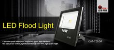 #LED FLOOD LIGHT;Imported Bridgelux/Epistar LED chips, double gold wire integration LED, more pure color, low light failure, ensure long lifespan. hours. http://gmkjled.com