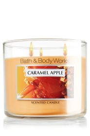 Body Care & Home Fragrances You'll Love Golden apple, brown sugar and creamy caramel are blended with Anjou pear, nutmeg Bath Candles, 3 Wick Candles, Scented Candles, Yankee Candles, Fall Scents, Home Scents, Home Fragrances, Bath N Body Works, Bath And Body