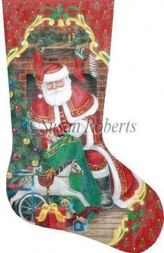 Santa's First Stop stocking
