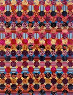 Rustic Snowball Quilt by Brandon Mably.  In: Kaleidoscope of Quilts by Kaffe Fassett