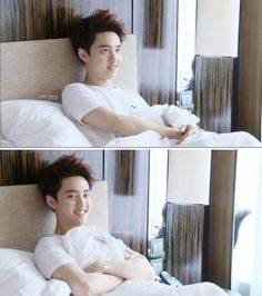 Kyungsoo. IMAGINE WAKING UP TO THAT LITTLE SQUISHY FACE AHHHHHH/// i can see all the fanfics now.