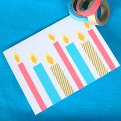 Geburtstagskarte selber machen - Washi Tape