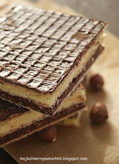 Knoppers wafer as Polish Desserts, Polish Recipes, Cookie Desserts, Cookie Recipes, Dessert Recipes, Bakery Cakes, Dessert Drinks, Pumpkin Spice Latte, Coffee Cake