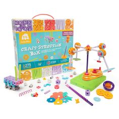 The Craft-Struction Box combines the best of crafting and construction for the ultimate open-ended play experience! Kids will think like Goldie to prototype and problem-solve, and with over 275 pieces