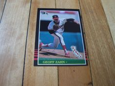 1985 Donruss Card #301 GEOFF ZAHN