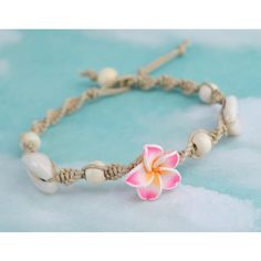 Hemp Shell Anklet, Beach Anklet, Flower Bead Anklet, Macrame Anklet, Hemp Jewelry and other apparel, accessories and trends. Browse and shop 20 related looks.