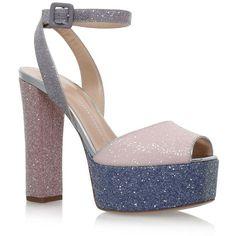 ec0faf6dd65 Giuseppe Zanotti Betty Glitter Platform Sandals 120 ( 750) ❤ liked on  Polyvore featuring shoes