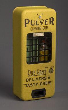 Pulver chewing gum vending machine