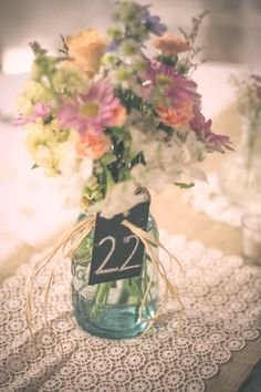 Rustic wedding table numbers | Rachel Anne's Photography