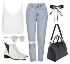 """""""Untitled #11175"""" by minimalmanhattan on Polyvore featuring Topshop, Givenchy, Forever 21 and Acne Studios"""