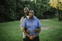 William Widmer | A portrait of Vanessa White and Rev. Victor White, parents of the deceased Victor White III, in their back yard in Alexandria Louisiana.