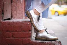 Dries Van Noten Silver Loafer