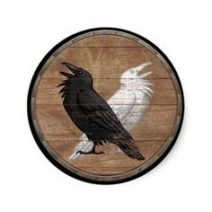 Viking Shield Sticker - Odin's Ravens