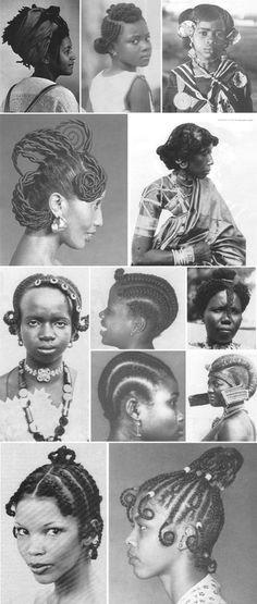 Artagence Coiffure Africaine Ethnik Nigeria – Yoruba Source by bigmomafrica Natural Hair Salons, Natural Hair Art, Pelo Natural, Natural Hair Styles, Black Girls Hairstyles, African Hairstyles, Afro Hairstyles, Black Is Beautiful, Beautiful Women