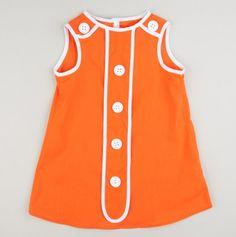 Retro A-line Button Dresstel- adorable.