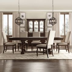 TRIBECCA HOME Flatiron Baluster Extending Dining Set | Overstock.com Shopping - The Best Deals on Dining Sets