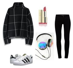 """Preppy & laid back casual"" by valeririvas ❤ liked on Polyvore featuring Chicwish, J Brand, adidas Originals, Frends, women's clothing, women's fashion, women, female, woman and misses"