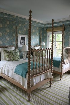 This look could be recreated with a brown/neutral bed skirt and then copy the rest of the bedding.