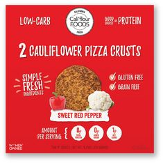 Our Sweet Red Pepper Artisan Style Flatbread Cauliflower Pizza Crust is made of a proprietary blend of 4 fresh simple ingredients: cauliflower, cheese, eggs, and spices. These crusts will come to you fully baked ready to place in your freezer! Califlour Recipes, Real Food Recipes, Califlour Pizza Crust, Cauliflower Pizza Healthy, Cauliflower Cheese, Food Nutrition Facts, Sweet Red Pepper, Cheese Cultures, Gluten Free Grains