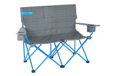 Big comfort times two. The Kelty Loveseat 2 person folding camp chair is lightweight, durable steel and folds up easily—so it's a great addition at camp!