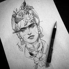 Tattoo Designer Fredao Oliveira Archive Lots of people get tattoo's given that they believe that tattoos are very awesome, and they are. But, numerous find yourself acquiring a design which… Tattoo Sketches, Tattoo Drawings, Body Art Tattoos, Sleeve Tattoos, Tatoos, Frida Tattoo, Frida Kahlo Tattoos, Barbed Wire Tattoos, Dibujos Zentangle Art