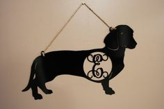 Hey, I found this really awesome Etsy listing at https://www.etsy.com/listing/212597885/metal-monogrammed-dachsund-door-hanger