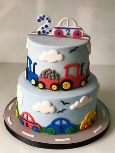 cake For Kids boys - Cupcakes Decorados Carros Ideas Toddler Birthday Cakes, Baby Boy Birthday Cake, 2nd Birthday, Bolo Blaze, Cars Cake Design, Cake Designs For Kids, Cupcake Cakes, Dekorierte Cupcakes, Decorated Cupcakes