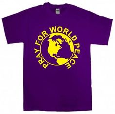 Pray for World Peace T-Shirt by StichinNGrinnin on Etsy
