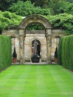Italian Garden at Hever Castle in Kent.