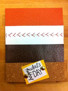 DIY Sports Card. Baseball stitch tutorial. Perfect for Father's Day, anniversary, or birthday for your dad or boyfriend. | Salt and Paper Crafts