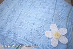Copertina con rombi e quadrati | I gomitoli di Camilla Camilla, Sunburst Granny Square, Dou Dou, Baby Knitting Patterns, Blog, Crochet, Creative, Tutorials, Blanket