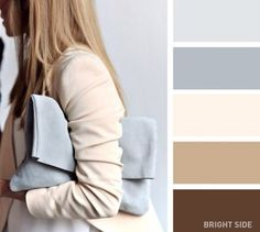 20brilliant color combos for your wardrobe. Beige and grey