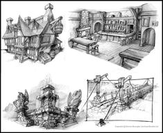 Fable Environment sketches by ~OmenD4 on deviantART