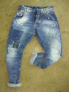 Ripped Jeans Men, Denim Pants, Men's Denim, Blue Denim, Blue Jeans, Abs Boys, Patchwork Jeans, Vintage Jeans, Refashion