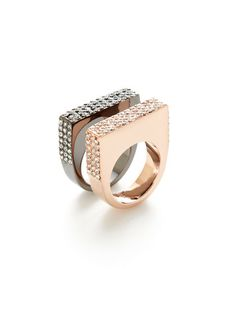Set Of 2 Soulmate Rings by CC Skye Jewelry at Gilt