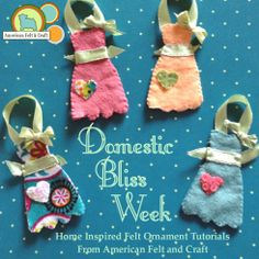 Domestic Bliss Week Home inspired Ornament Tutorials from American Felt and Craft
