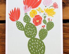 cactus block print - Google Search