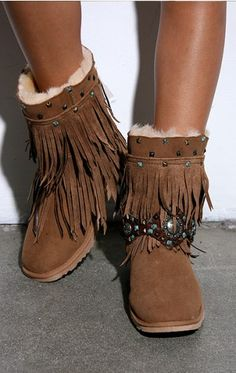 Rocker Fringe Boot - SHOES - ACCESSORIES