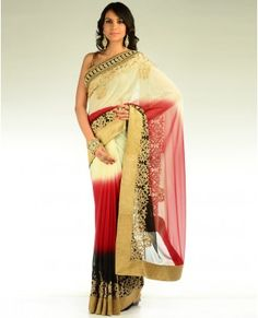 Ombre shaded sari...love these colors together