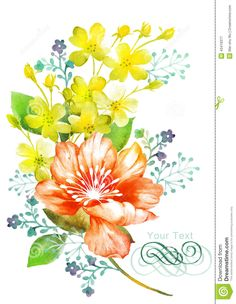 watercolor-illustration-flower-simple-background-decoration-as-43419377.jpg (1009×1300)