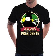 Camiseta Zé Do Caixão Para Presidente Coffin Joe José Mojica