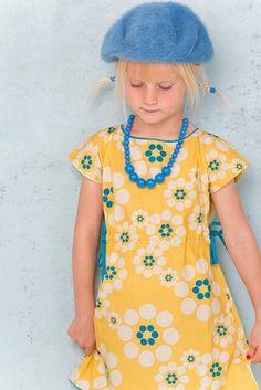 Albababy jurk Celine bloemen geel»Jurkjes»sTerrenopsTelten.nl kinderkleding voor kleine sterren