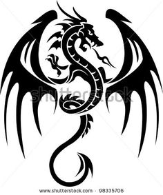 Dragon Tattoo Stock Vector 98335706 : Shutterstock