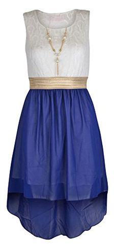 Girls Sleeveless Waist Band Chiffon Dress with Free Neckl... https://www.amazon.co.uk/dp/B00UZLW908/ref=cm_sw_r_pi_dp_x_7T7YybW8RK27V