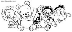 Baby Pooh Bear Coloring Pages | Baby Pooh Coloring Pages - Disney Winnie the Pooh, Tigger, Eeyore and ...