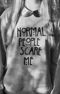 American Horror Story sweatshirt.