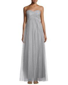 TBMXA Donna Morgan Felicity Crisscross-Bodice Chiffon Gown