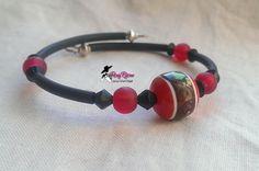 Bracciale con pietre rosse e nere, by Roxy Bijoux, 4,00 € su misshobby.com