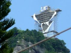 Christ the Redeemer under repair,Corcovado Mountain
